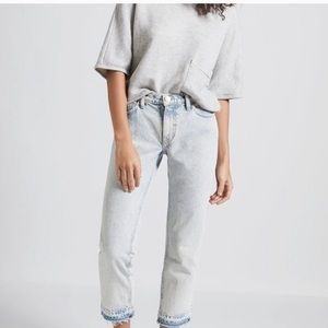 CURRENT/ELLIOT Cropped Straight Jeans